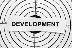 Development target Stock Photos