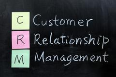 crm, customer relationship management - stock photo