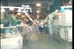 Vintage 1988 Super 8 Grand Central Market Los Angeles Stock Footage