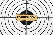 Stock Photo of technology target