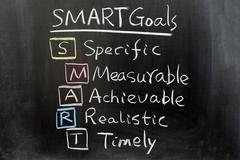 Smart goals Stock Photos