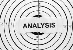 analysis target - stock photo