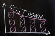 Cost down chart Stock Photos