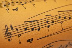 Music sheet Stock Photos