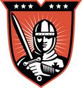 Stock Illustration of knight crusader with sword shield