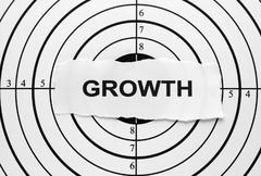 growth target - stock photo