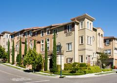 Contemporary Townhomes - stock photo