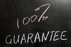 Stock Photo of 100% guarantee