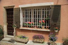 window in the provence - stock photo