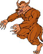 Ihmissusi Wolfman käynnissä hyökkää Piirros
