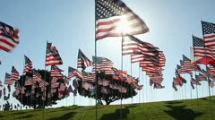 AMERICAN FLAGS 9/11 TRIBUTE 5 Stock Footage