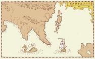 Vintage map of island.. Stock Illustration