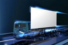 Virtual truck Stock Illustration