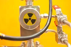 industrial alert symbol, radiation - stock photo