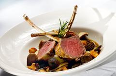 lamb chops - stock photo