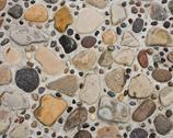 Pebbles in Concrete Stock Photos