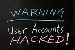 user accounts hacked - stock photo