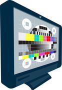 lcd plasma tv television test pattern. - stock illustration