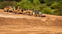 Earthwork Site and Equipment Stock Photos