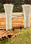 Bridge Construction - stock photo