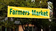 Farmers Market Banner Stock Photos