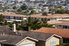 American Middle-class Residential Cityscape Stock Photos