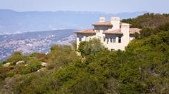 Hillside House - stock photo