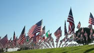 AMERICAN FLAGS 9/11 TRIBUTE 3 Stock Footage