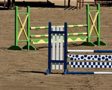 Equestrian Obstacle Course - stock photo