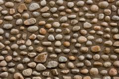 Smooth Stone Wall - stock photo