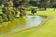 Golf Course and Pond Stock Photos