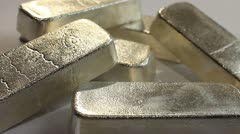 SILVER BULLION BARS 5 Stock Footage