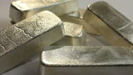 Stock Video Footage of SILVER BULLION BARS 5