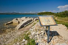 Remains of the ancient city of Colentum - stock photo