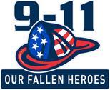 9-11 fireman firefighter hat american flag Stock Illustration