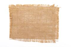 sackcloth material - stock photo