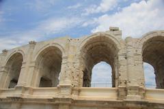 roman arena arles - stock photo