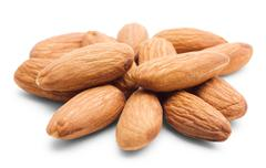 Heap of almonds Stock Photos