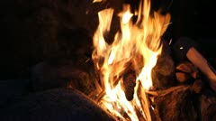 Heat hands at a fire - stock footage