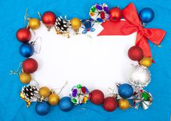 Blank christmas greeting card Stock Photos