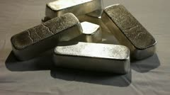 SILVER BULLION BARS 4 Stock Footage