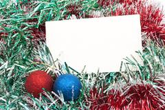 blank christmas greeting card - stock photo