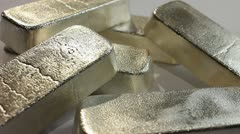 SILVER BULLION BARS 3 Stock Footage