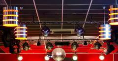 professional club lighting equipment - stock photo