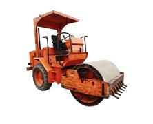 Construction road roller Stock Illustration