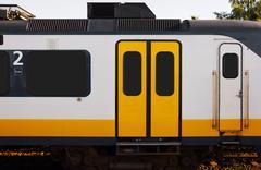 Train doors and window Stock Photos