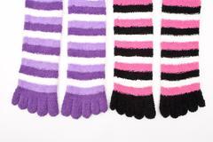 Striped socks Stock Photos