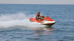 MAN ON JET SKI 2 Stock Footage