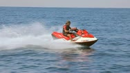 Stock Video Footage of MAN ON JET SKI 2