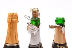 champagne bottles - stock photo